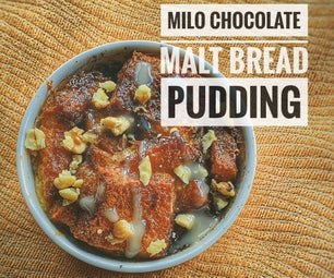 3-Ingredients Milo Spread for Easy Chocolate Malt Bread Pudding