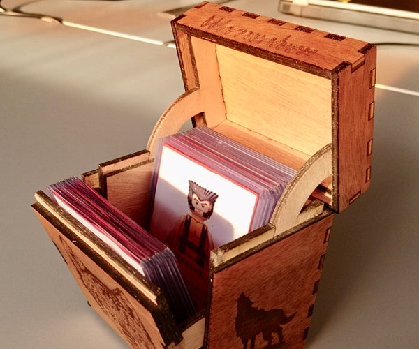 Laser Cut Game Card Box With Internal Hinges