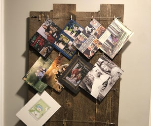 Upcycled Holiday Greeting Card/Photo Display in 3 Easy Steps
