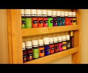 Simple DIY Hanging Essential Oils Shelf