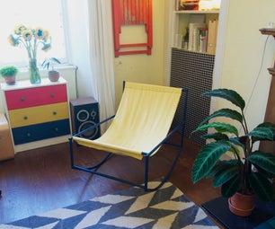 Minimalist Steel Rocking Chair