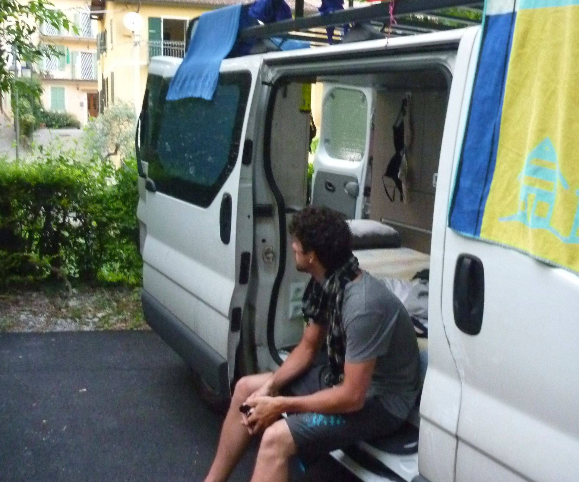 Van conversion to small camper