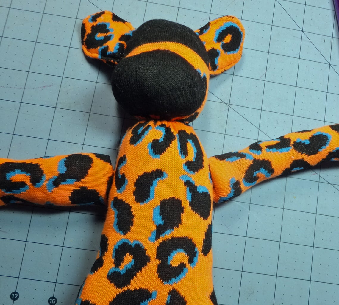 Sew on the Arms & Tail