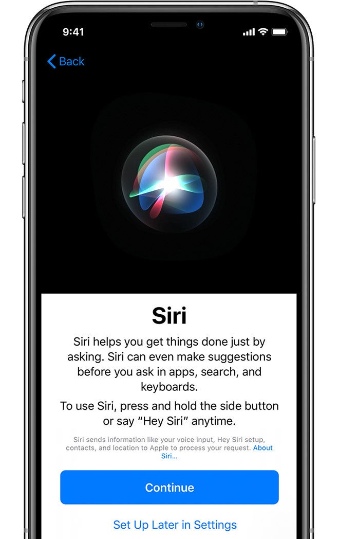 Set Up Siri and Other Services