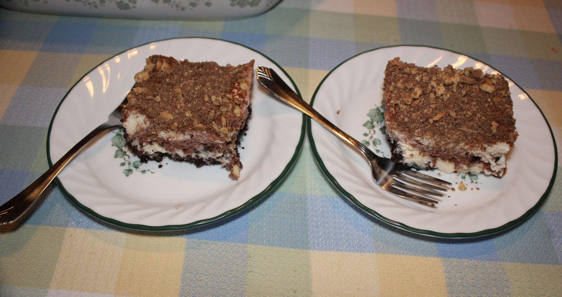 Chocolate Eclair Ice Cream Casserole