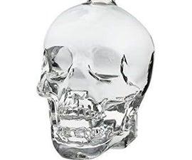 Cristal Skull Lamp