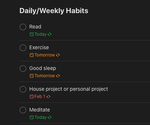 使用Todoist应用程序来改善日常习惯和自我照顾