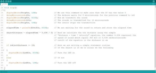 Programming a HC-SR04