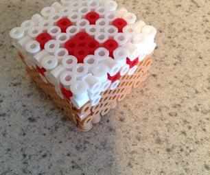 Minecraft Perler Cake