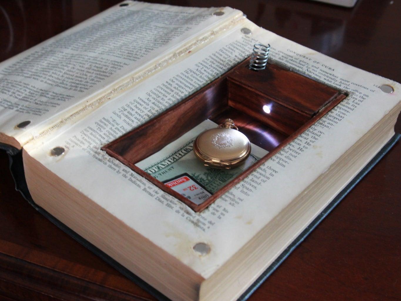 LED Book Safe W/ Secret Compartment