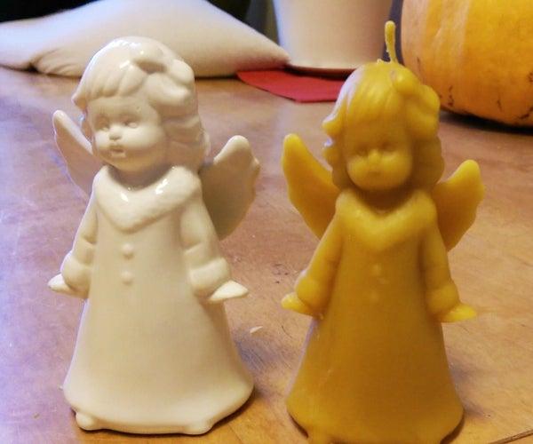 Homemade Beeswax Christmas Candles