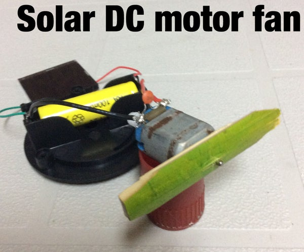 Solar Powered DC Motor