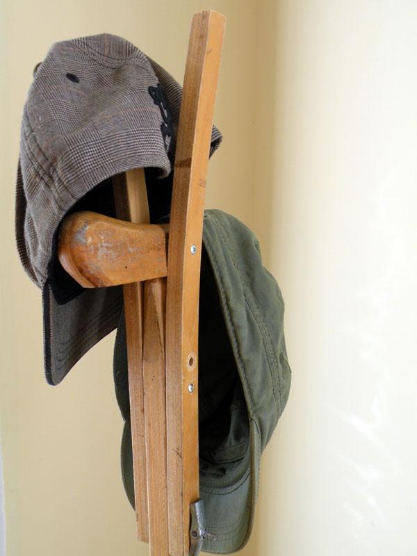 Crutch Hat Rack