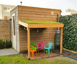 Simple Green Roof Play House Extension