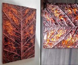 How to Make Leaf Embossed Painting / Metal Art