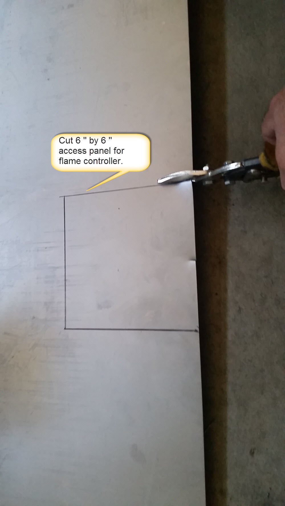 Cut a Hole for Control and Hose