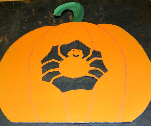 Halloween Pumpkin From Cardboard Boxes
