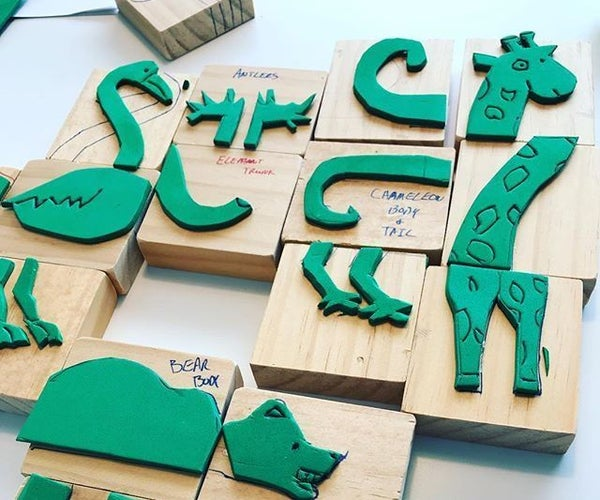 Handmade Stamps- Making and Literacy With Eric Carle's Mixed-Up Chameleon