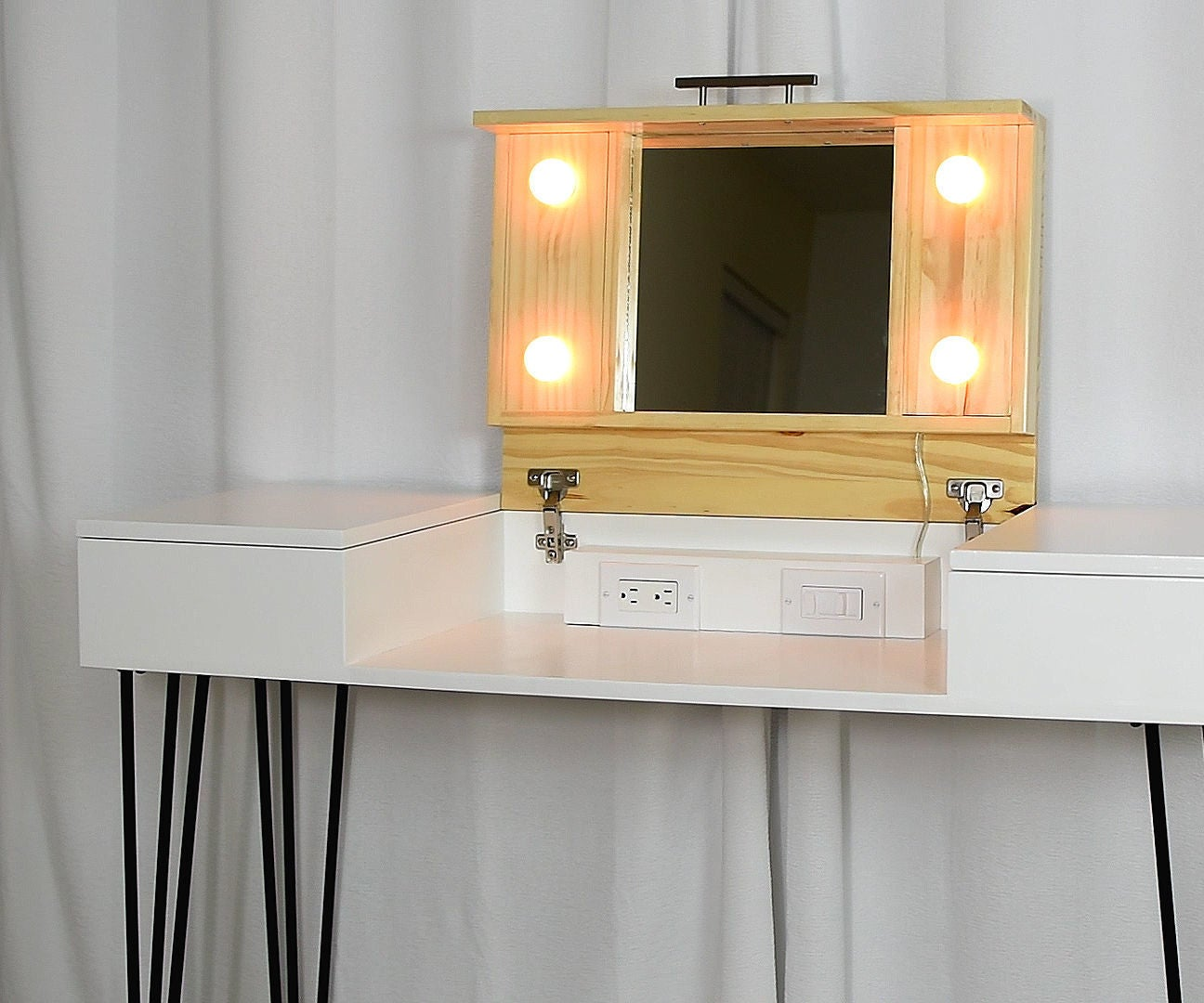 Diy Makeup Vanity Desk 9 Steps With Pictures Instructables