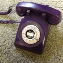 Purple Rotary Phone