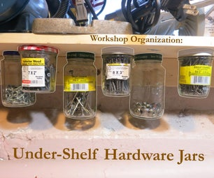 Workbench Under-shelf Jar Storage