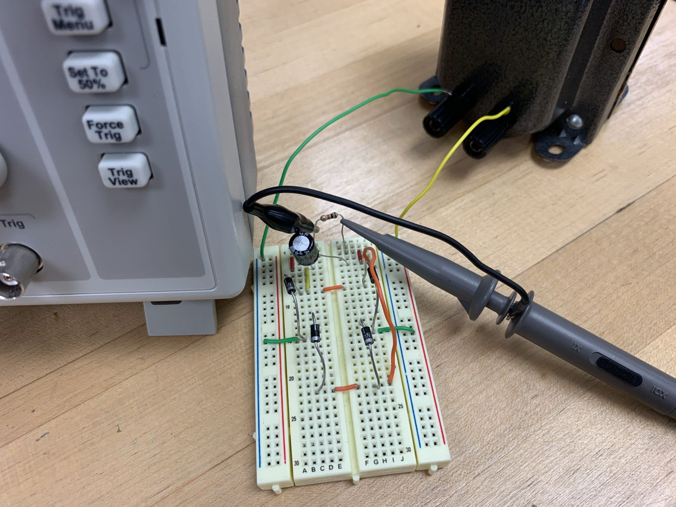 Connect the Breadboard to the Transformer