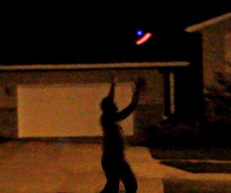Blinking Multi-Color LED UFO Frisbee Disc