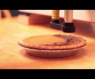Laser Etch a Pumpkin Pie