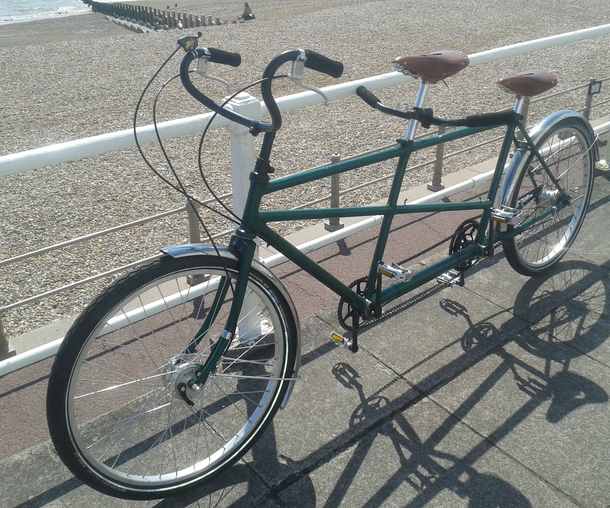 Restoring vintage tandem bicycle