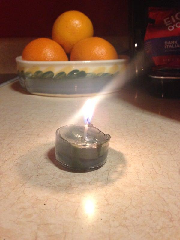 Reusable Crayola Candle