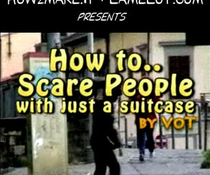 How to Scare People With Just a Suitcase (candid Camera)
