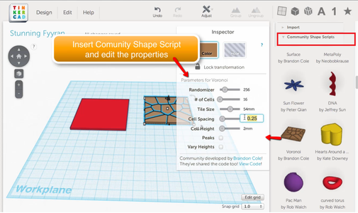 Drag the Box and Shape Scripts to Canvas