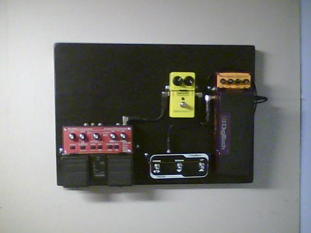 Wall Hanging, Guitar Effects Pedal Board