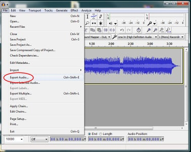 Ripping the Audio to 8-bit RAW With Audacity