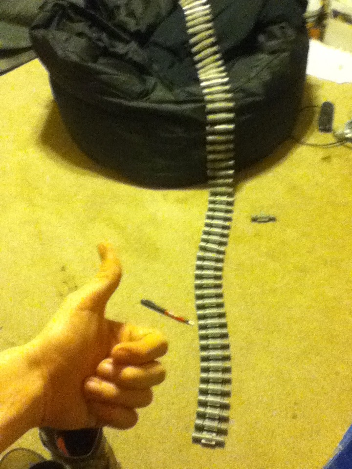 How To Make A 50 Dart Belt For Your Nerf Vulcan