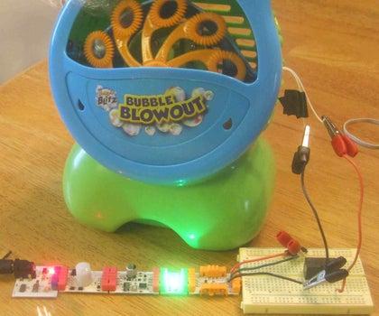 Motion Sensitive Bubble Machine With LittleBits!