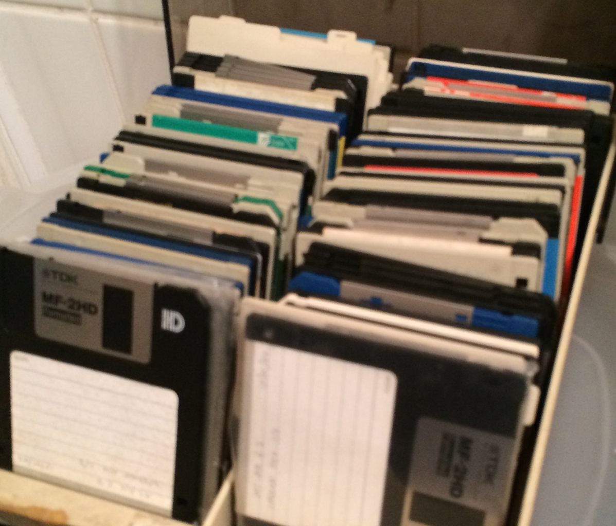 Look for an Old Floppy Disk... Remove the Old Label and Clean It.