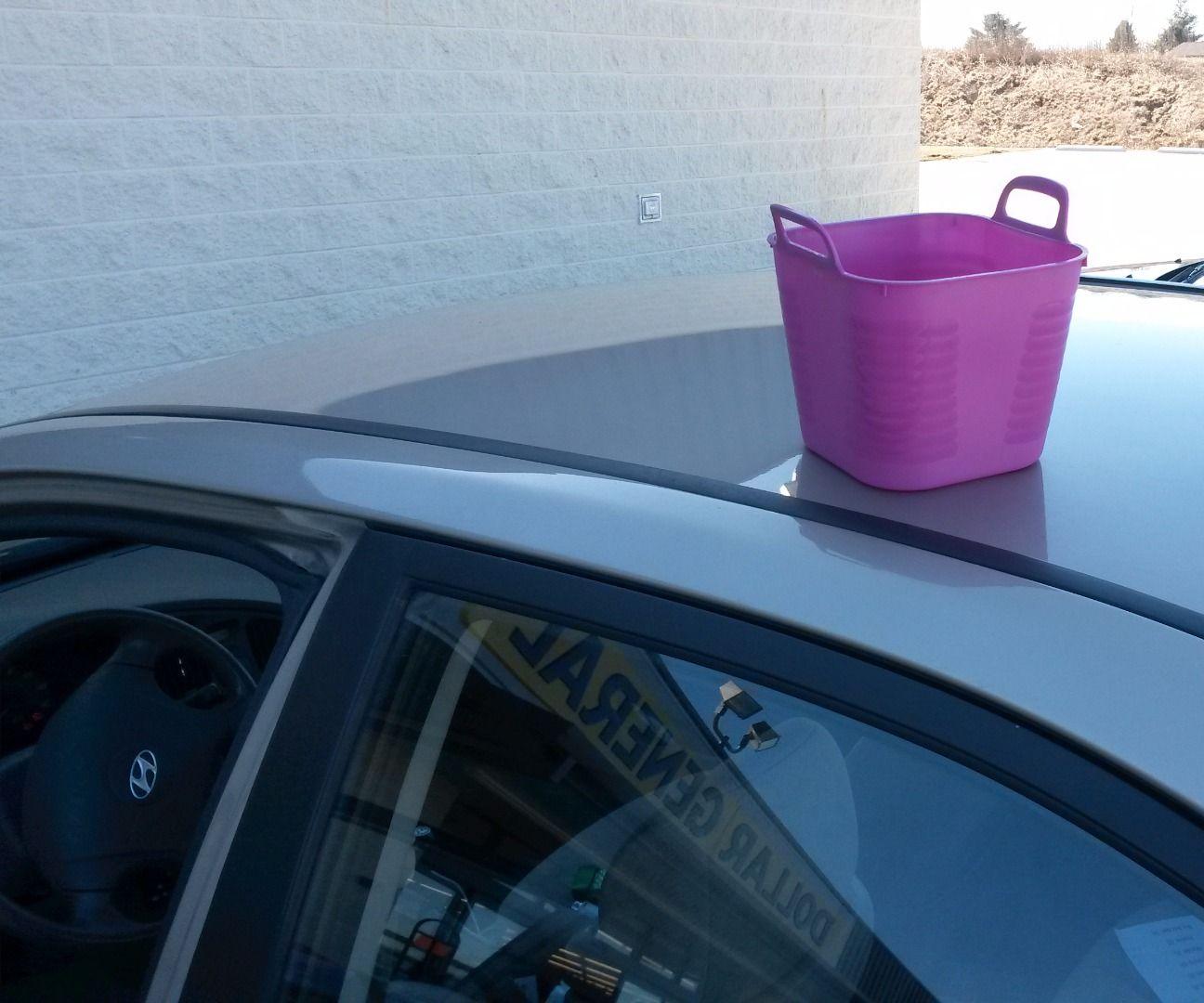 April Fool's Joke - Cup on Car