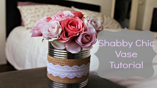 Shabby Chic Vase Tutorial