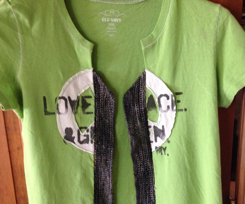 T-Shirt Into Cardi Using Crochet