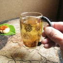 Glass Cup With Twig Handle