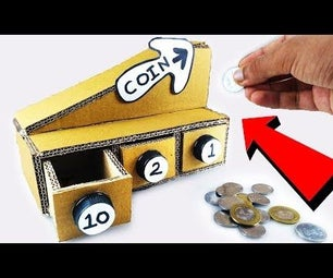 How to Make Coin Sorting Piggy Bank Machine From Cardboard DIY at Home