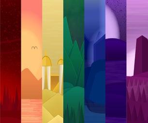 Monochromatic Flat Design Wallpaper