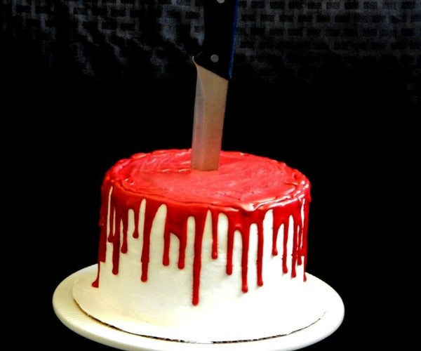 How to Make a Bloody Halloween Cake