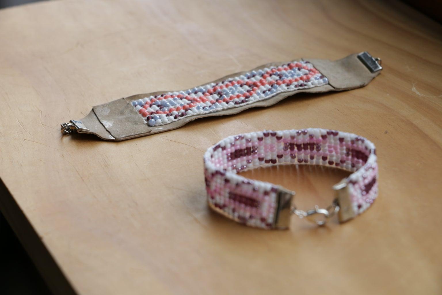 Finishing the Beaded Bracelet on the Loom