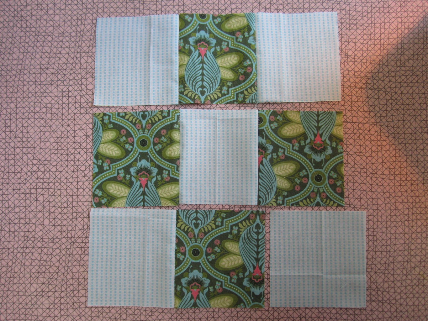 Assembling & Sewing the Squares Into a Block.
