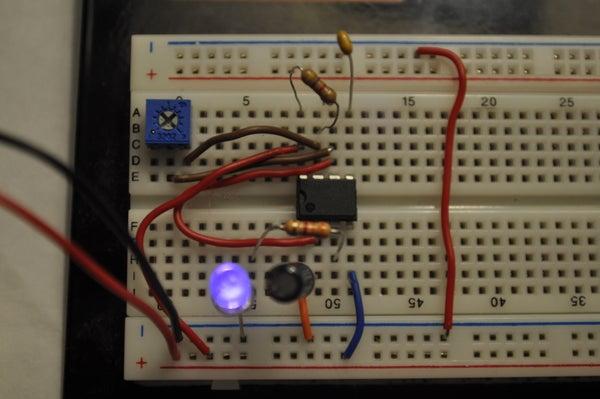 555 IC Intro: Flashing LED