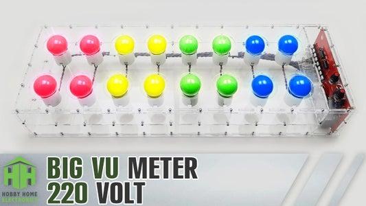 Big VU Meter on Incandescent Lamps 220 Volt.