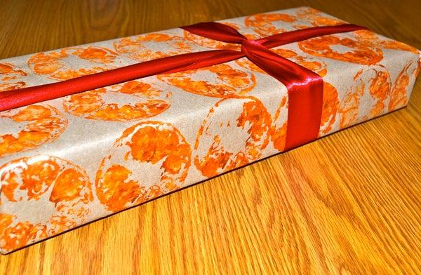 Citrus Stamp Gift Wrap