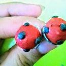Miraculous Ladybug Earrings Using Clay